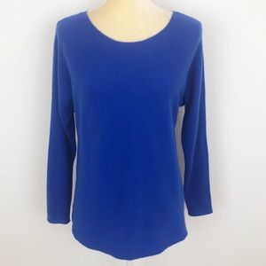 Charter Club Blue Cashmere Hi-Lo Tunic Sweater